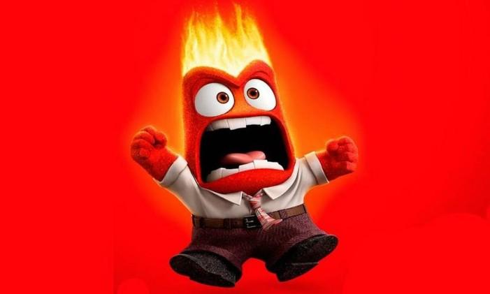 Notícias falsas visam despertar emoções, como a Raiva, personagem no filme 'Divertida Mente' Foto: Reprodução/ 'Divertida Mente' / Pixar