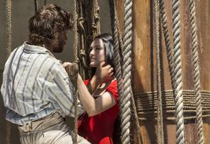 Anna (Isabelle Drummond) e Joaquim (Chay Suede) Foto: Divulgação/TV Globo