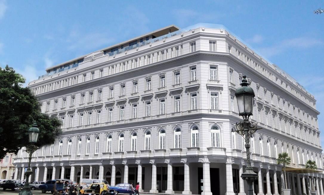 O Gran Hotel Manzana Kempinski La Habana será o primeiro hotel de luxo da capital de Cuba. Foto: Kempinski Hotels / Divulgação