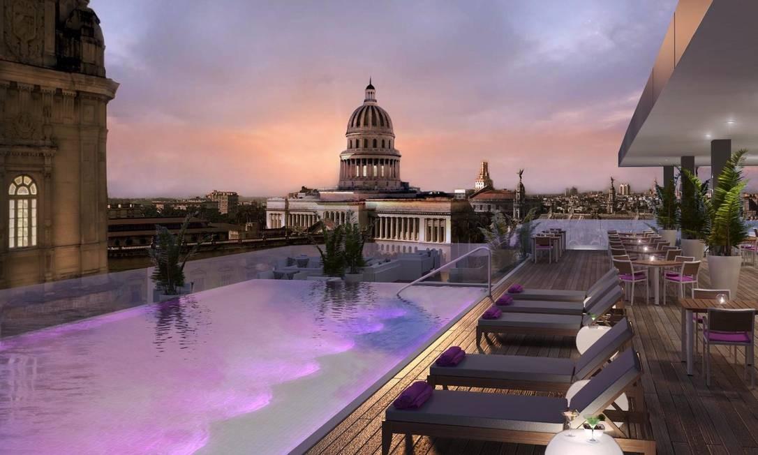 O pôr do sol no terraço também promete ser uma atração imperdível. Foto: Kempinski Hotels / Divulgação