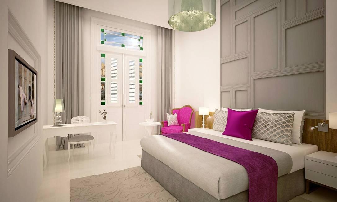 """O cinco estrelas terá 246 quartos, com decoração contemporânea, com paletas de cores com tons de branco e cinza, e cores mais vibrantes para dar um contraste mais """"caribenho"""". Foto: Kempinski Hotels / Divulgação"""