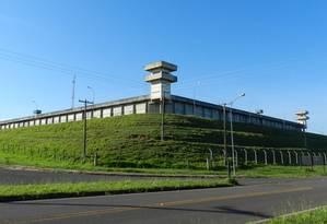 Penitenciária de segurança máxima de Presidente Bernardes, em São Paulo Foto: Reprodução TV