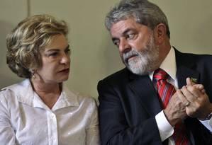 Lula e dona Marisa Letícia em foto de 2008, durante o segundo mandato presidencial Foto: Ricardo Moraes - AP Photo / AP