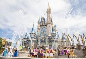 Personagens da Disney se apresentam no Magic Kingdom, em Orlando Foto: Ryan Wendler / Walt Disney World Resort/Divulgação