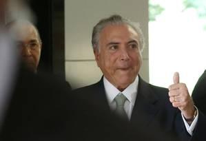 Aliados de Temer dizem que ele está inclinado a nomear Velloso Foto: Jorge William / Agência O Globo