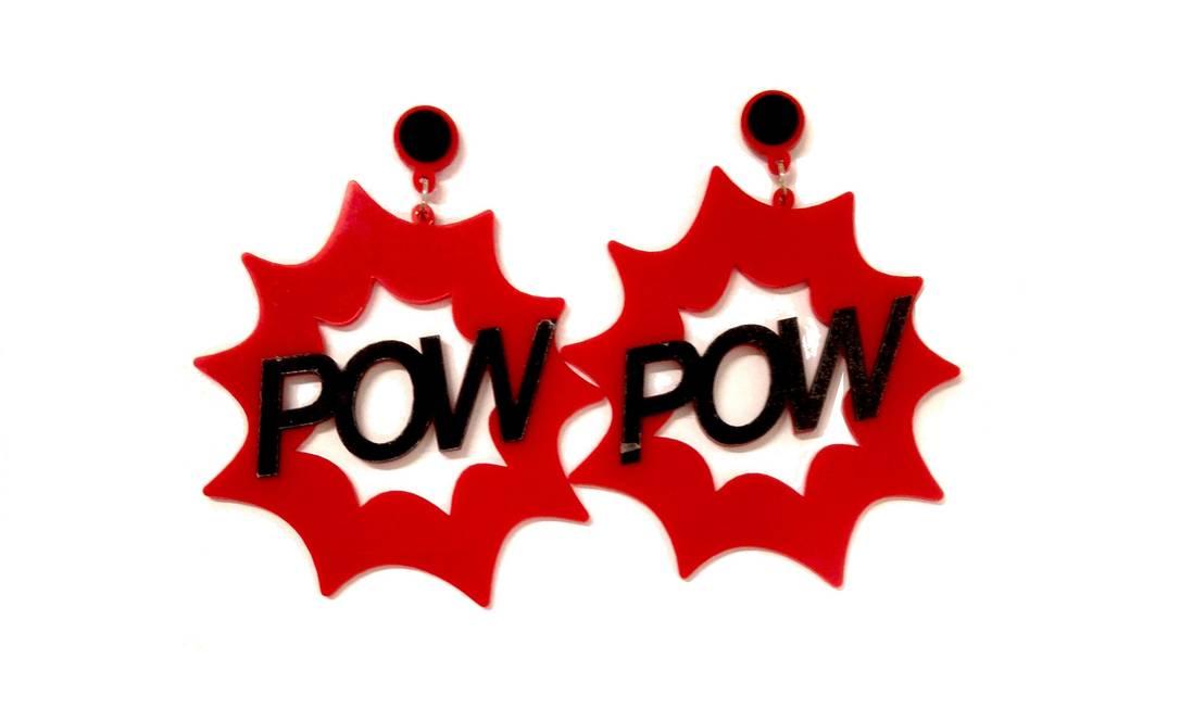 Brinco Pow, da Josefina Rosacor (josefinarosacor.com.br), R$ 42 Divulgação