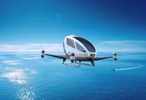 O drone modelo Ehang 184 Foto: Divulgação