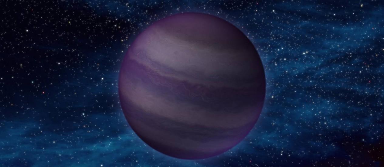 """Ilustração de um tipo de objeto conhecido como """"anã Y"""", mais frio da família das anãs marrons, """"estrelas fracassadas"""" que não acumularam material suficiente para brilhar e podem estar escondidas na imensidão do espaço interestelar entre a Terra e Proxima Centauri Foto: Nasa/JPL-Caltech"""