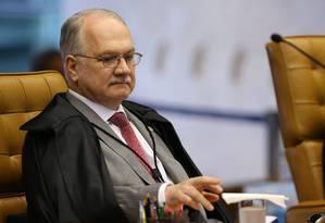 O ministro Edison Fachin, durante sessão do Supremo Tribunal Federal Foto: Ailton de Freitas / Agência O Globo/08-02-2017