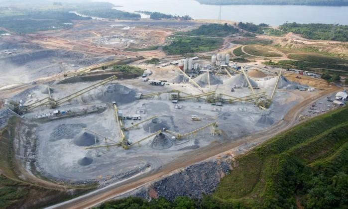 Canteiroda Usina de Belo Monte em 2013 consórcio construtor teria pago propina de 1% do valor da obra- Regina Santos  Agência O Globo