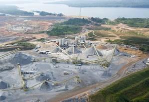 Canteiroda Usina de Belo Monte em 2013: consórcio construtor teria pago propina de 1% do valor da obra Foto: Regina Santos / Agência O Globo