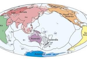 Zealândia: segundo geólogos, é o menor continente da Terra e tem apenas 94% de seu território submerso Foto: Divulgação/Sociedade Geológica dos EUA