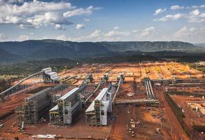 Usina do projeto S11D, no Pará Foto: Vale/Divulgação/21/07/2016