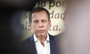O prefeito de São Paulo João Doria Foto: Edilson Dantas / Agência O Globo / 4-1-2017