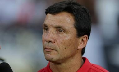 O técnico do Flamengo, Zé Ricardo, durante o clássico contra o Botafogo Foto: Marcelo Theobald / Agência O Globo