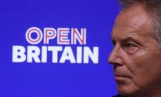 Ex-primeiro ministro britânico Tony Blair discurso no evento pró-Europa, em Londres Foto: TOBY MELVILLE / REUTERS