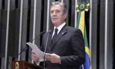 O senador Fernando Collor (PTC-AL), durante discurso no plenário Foto: Waldemir Barreto/Agência Senado/17-10-2016