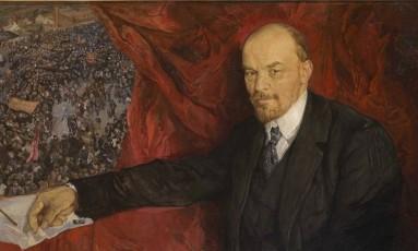 Lenin. Quadro pintado, em 1919, pelo artista russo Isaak Brodsky Foto: The State Historical Museum/Divulgação