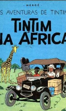 Capa do livro Tintim na África Foto: Reprodução