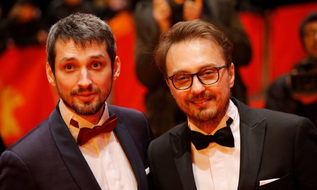 Ator Mircea Postelnicu e diretor Calin Peter Netzer na exibição de