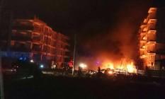 Explosão em Viransehir deixou criança morta Foto: Reprodução