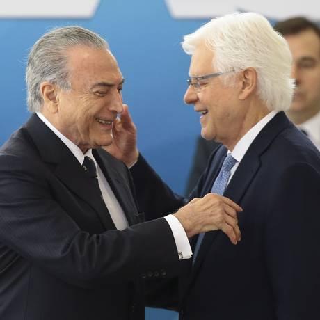 Cerimônia de posse de Moreira Franco como ministro da Secretaria de Governo Foto: Jorge William / Agência O Globo/03-02-2017