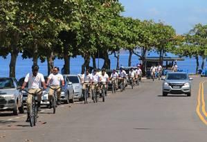 Na semana passada, 20 guardas fizeram treinamento com policiais do Batalhão em Áreas Turísticas, da Polícia Militar. Foto: Divulgação / Alexandre Vieira