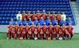 A seleção de Andorra. O técnico Koldo, de azul, é o sexto a partir da esquerda Foto: Divulgação