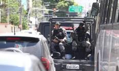 Policias Militares do Rio retornam de operação na cidade; Efetivo teve registro de queda nos últimos três anos Foto: Guilherme Pinto/10-02-2017