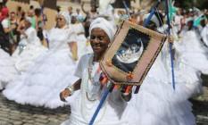 Ala das baianas é destaque no Suvaco do Cristo Foto: Marcia Foletto / Agência o Globo