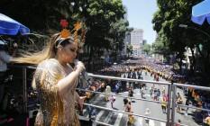 Preta Gil comanda a folia e arrasta milhares de pessoas ao Centro, para o Bloco da Preta Foto: Alexandre Cassiano / Alexandre Cassiano
