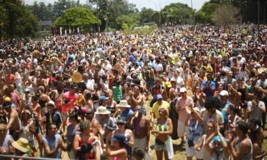 Carioca Monobloco se concentra no Parque Ibirapuera, em São Paulo, e atrai público animado Foto: Marcos Alves/Agência O Globo