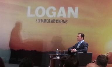 """Hugh Jackman durante coletiva de imprensa, em São Paulo, para promover o filme """"Logan"""" Foto: Alessandro Giannini"""