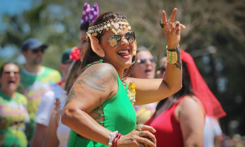 A animação carioca agita o pré-carnaval de São Paulo, com a folia do Monobloco. A festa se concentra no parque do Ibirapuera, zona sul da cidade, e atrai uma multidão Foto: Marcos Alves / Agência O Globo