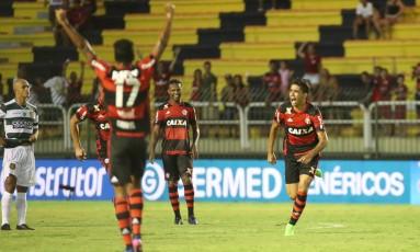 Lucas Paquetá comemora seu golaço na vitória do Flamengo sobre o Madureira Foto: Gilvan de Souza/Divulgação Flamengo