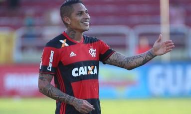 Guerrero deixou sua marca na vitória do Flamengo sobre o Madureira Foto: Gilvan de Souza/Flamengo