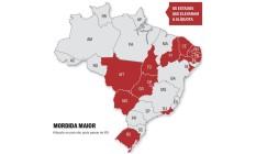 Estados que elevaram alíquota sobre doações e herança Foto: Levantamento da EY