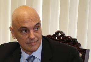 O ministro licenciado da Justiça, Alexandre de Moraes, conta com votos da maioria no Senado para a vaga no STF Foto: Ailton de Freitas / Agência O Globo