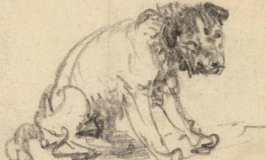 Professor apontou semelhanças entre o desenho 'O terrier de Braunschweig' e cachorro presente no quadro 'A ronda noturna' Foto: Reprodução / Herzog Anton Ulrich Museum
