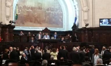 Deputados aprovam a venda da Cedae Foto: Luiz Ernestos Magalhães / O Globo