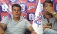 Mauro Cesar Pereira, vice-presidente do Marcílio Dias (à esquerda), causou polêmica ao dizer que time 'não precisa de tragédia' Foto: Reprodução