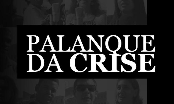 Palanque da crise Foto: Editoria de Arte