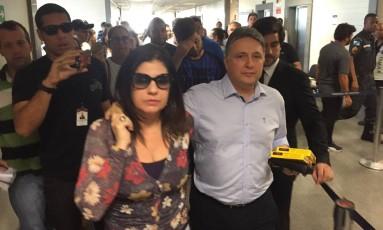 O ex-governador Anthony Garotinho chega ao Fórum de Campos para depor no processo de compra de votos na última eleição Foto: Mrco Grillo / O Globo