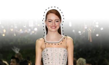 """Um dos momentos mais aguardados do Oscar, sem dúvida, é o tapete vermelho. O que as estrelas vão usar? Fizemos essa pergunta para estilistas, que fizeram suas apostas sobre o look ideal para cada uma. Maria Mendes, por exemplo, deu uma """"dica"""" para Emma Stone, indicada ao prêmio de melhor atriz por """"La La Land: cantando estações"""": """"Com este bordado na vertical, o vestido da alta-costura 2017 da Dior alonga a figura de Emma e, ao mesmo tempo, é um vestido bem clean"""" Foto: Reprodução"""