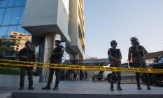 Operação nos escritórios da Odebrecht em Santo Domingo, em janeiro Foto: Erika Santelices/ 18-01-2017 / AFP