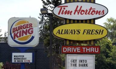 Placa da Buerger King: dona da rede comprou a fast-food de frango frito Popeues, por US$ 1,8 bilhão Foto: Sean Kilpatrick / Sean KilpatrickAP/25-82014