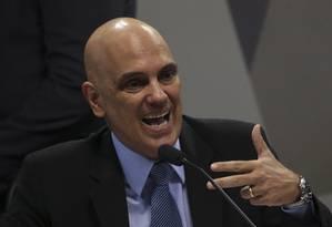 Alexandre de Moraes rebate afirmações de que teria sido investigado na Operação Acrônimo Foto: Ailton Freitas / Agência O Globo