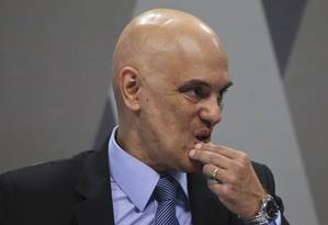 Indicado ao STF, Alexandre de Moraes sofre sabatina de senadores nesta terça-feira Foto: Ailton Freitas / Agência O Globo