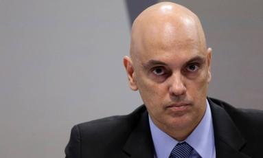 O ministro licenciado da Justiça, Alexandre de Moraes, durante sabatina no Senado Foto: ADRIANO MACHADO / REUTERS