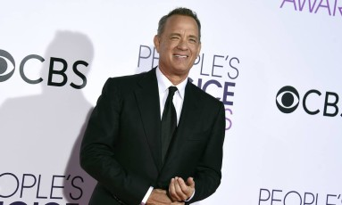 "Tom Hanks no ""People's Choice Awards"" Foto: Jordan Strauss / Jordan Strauss/Invision/AP"